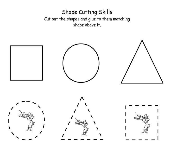 Printable Dr Seuss Cutting Maths Preschool Worksheets