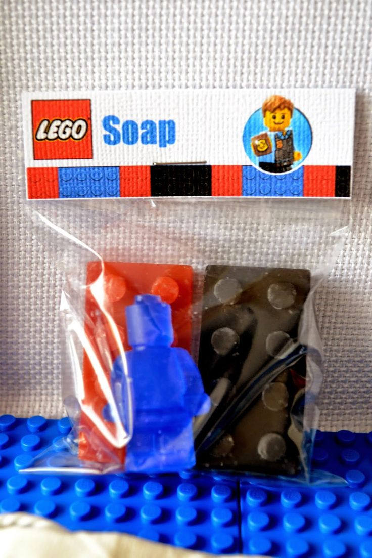 Partylicious: {LEGO City Police Birthday}  Soaps as party favors