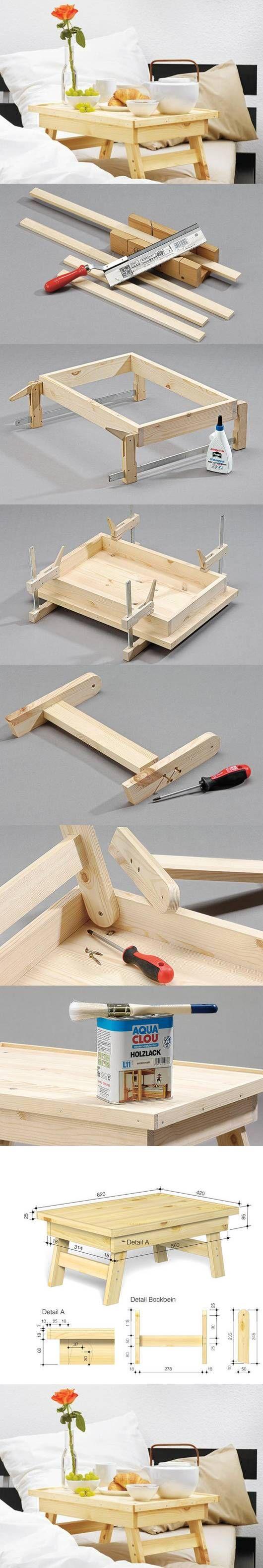DIY Simple Bed Tray | iCreativeIdeas.com Like Us on Facebook ==> https://www.facebook.com/icreativeideas