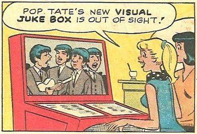 Los Beatles aparecen en un Scopitone en un cómic de Archie