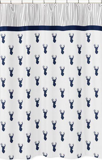Stag Collection Shower Curtain #KidsRoom
