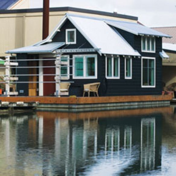 Tiny Floating Home A 433 Square Foot Floating Home On The