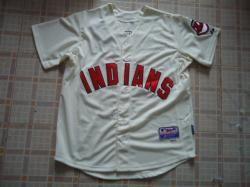 mlb Indians 41# Santana Cream cool base jerseys