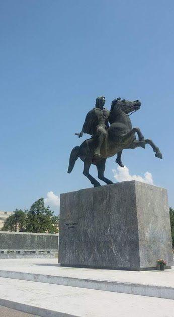 MACEDONIA - Statue of Alexander the Great - Thessaloniki, Macedonia Greece