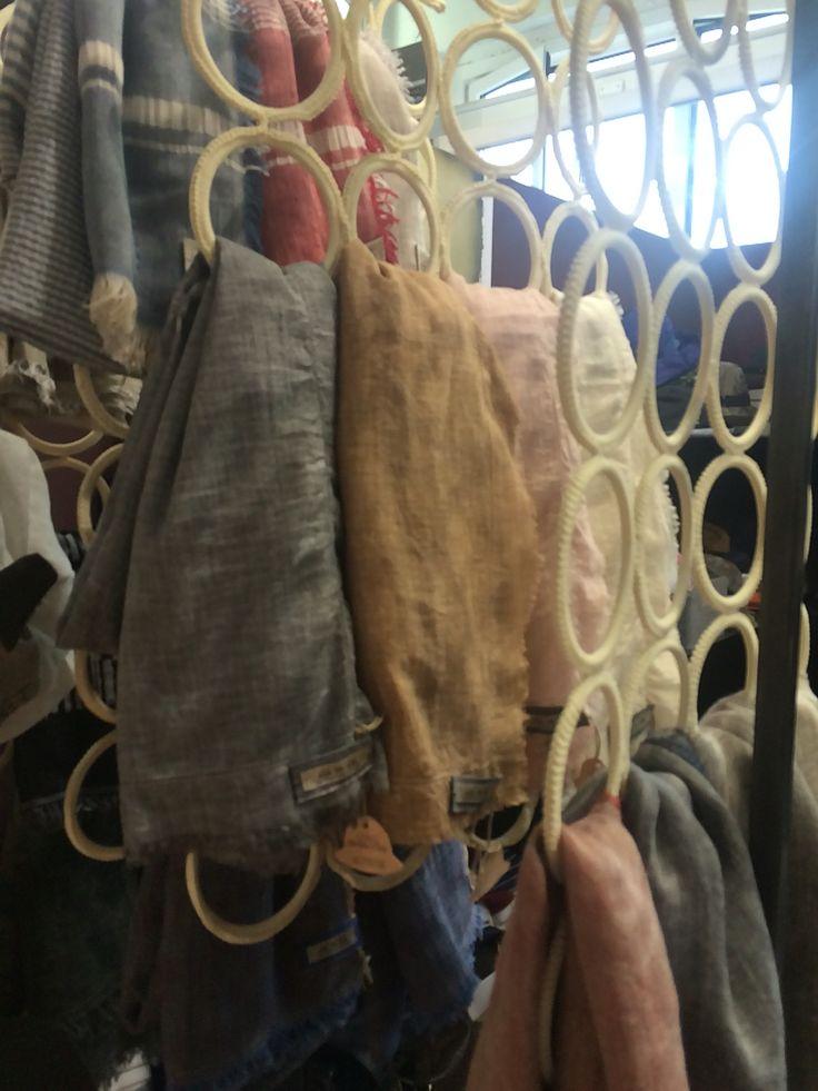 Scarves at Gi'N'Gi booth at WhiteMilano