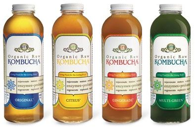 kombucha (probiotic drink that helps digestion, strengthens your immune system and increases your energy levels