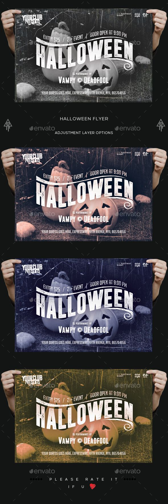 The 414 best images about Halloween Flyer Template on Pinterest ...