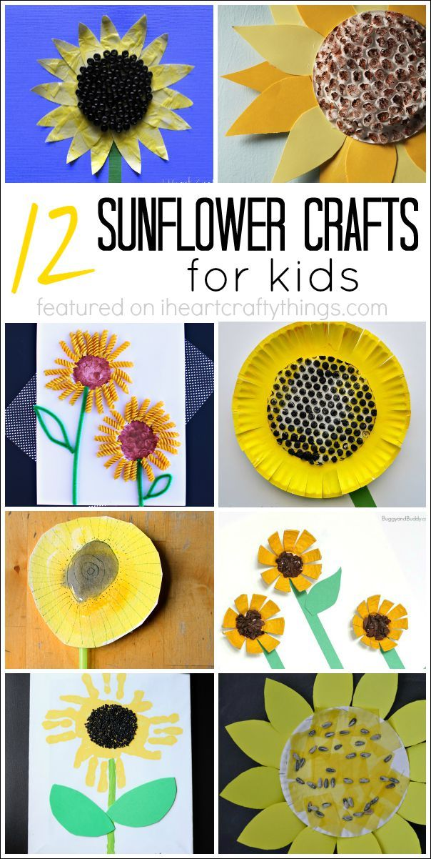 12 pretty Sunflower Crafts for Kids, perfect for a summer kids craft.