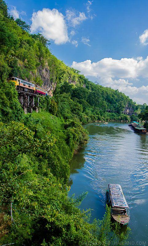 Death Railway in Kanchanaburi, Thailand   http://tielandtothailand.com/death-railway-tour-kanchanaburi-thailand/
