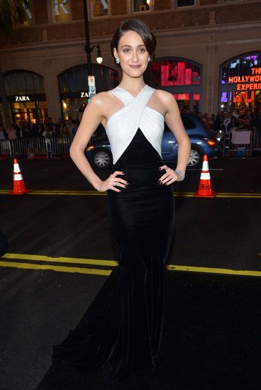 Emmy Rossum lit up the Beautiful Creatures red carpet in black and white Andrew Gn