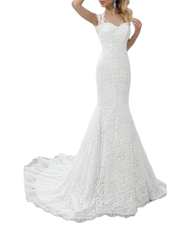 Spy Guide The Best Wedding Dresses To Buy On Amazon Under 200 Wedding Gowns Lace Mermaid Dress Lace Lace Mermaid Wedding Dress
