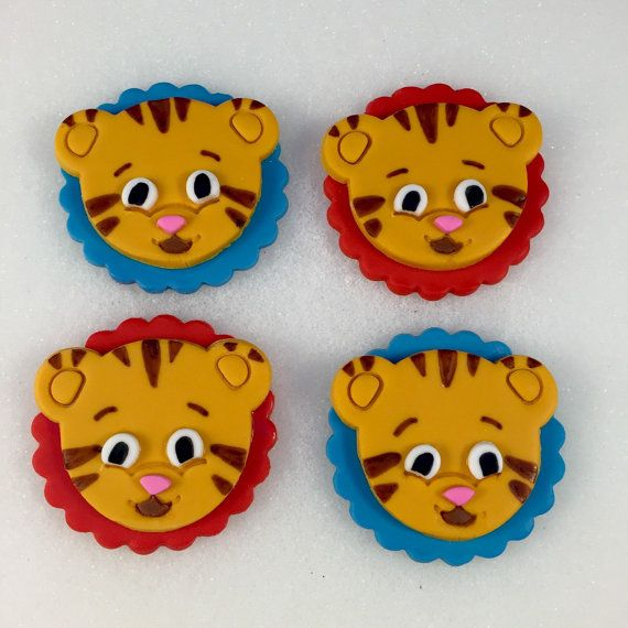 Daniel the Tiger Inspired Toppers Daniel by KedulceSugarDesigns
