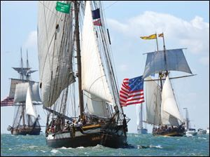 History came to life at the Lake Erie Islands. The Battle of Lake Erie Bicentennial reenactment was September 2, 2013 in Lake Erie around Put-in-Bay Island, Ohio. Photo via @Toledo Blade.