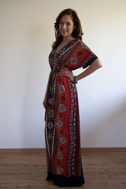 von mri: Einfaches (Maxi-)Kleid nach Schemaschnitt. Maxi dress tutorial by sweet verbena
