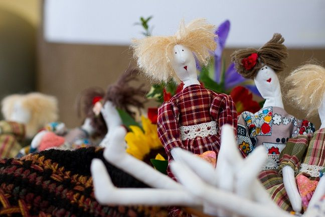Amazing dolls handmade by victims of human trafficking. Proceeds go to Beginning of Life in Moldova