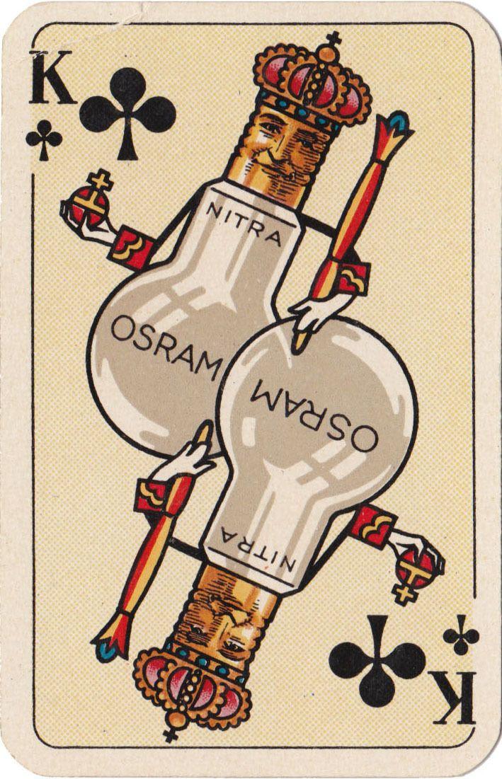 German advertising playing card, 1920's.