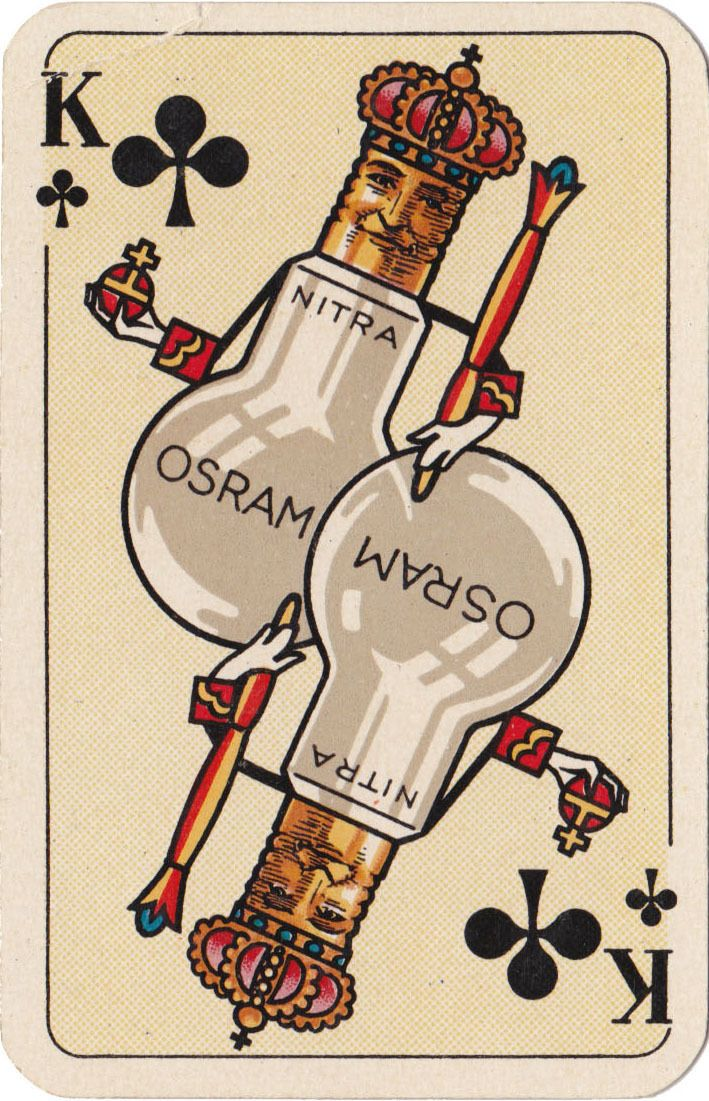 German advertising playing card, 1920's.