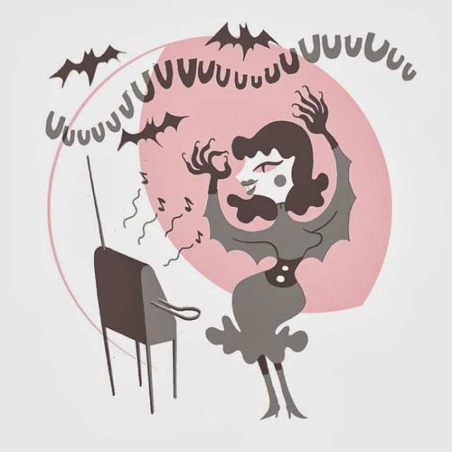 Halloween illustration for our handprinted cards. Design by Sami Vähä-Aho 2008.