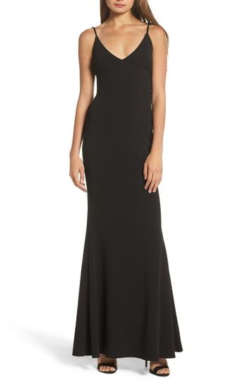 Amazing offer on Lulus V-Neck Trumpet Gown online
