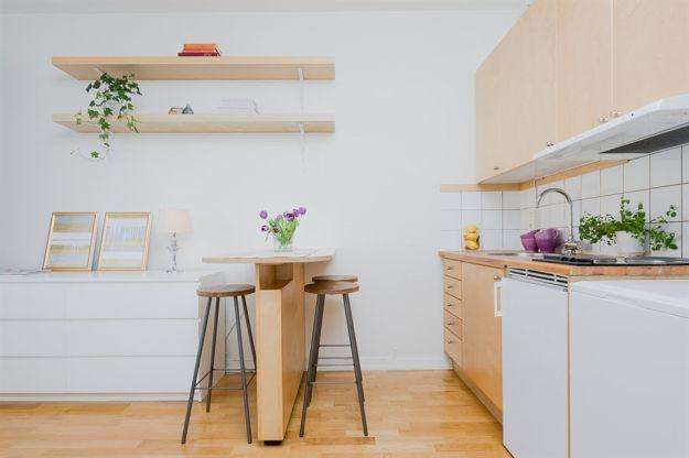 Минималистский дизайн маленькой квартиры-студии, Москва