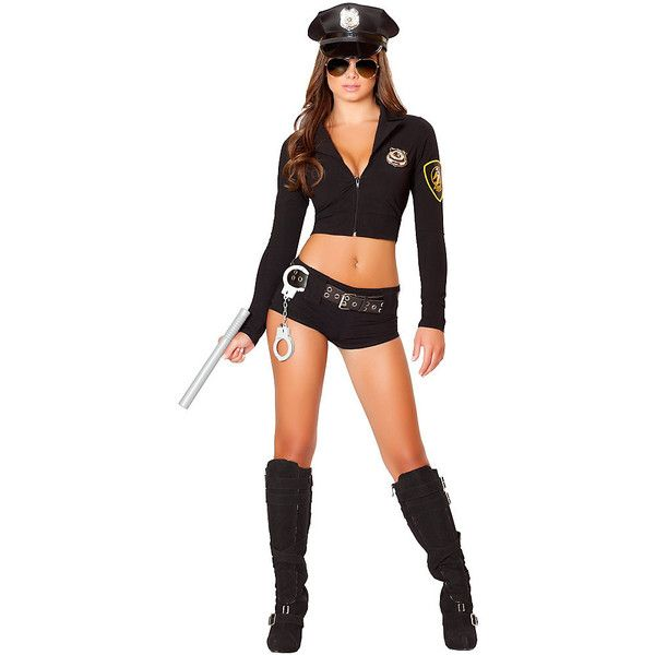 Adult Officer Hottie Sexy Costume ($80) ❤ liked on Polyvore featuring costumes, halloween costumes, multicolor, adult halloween costumes, colorful costumes, sexy adult costumes, roma halloween costumes and party costumes