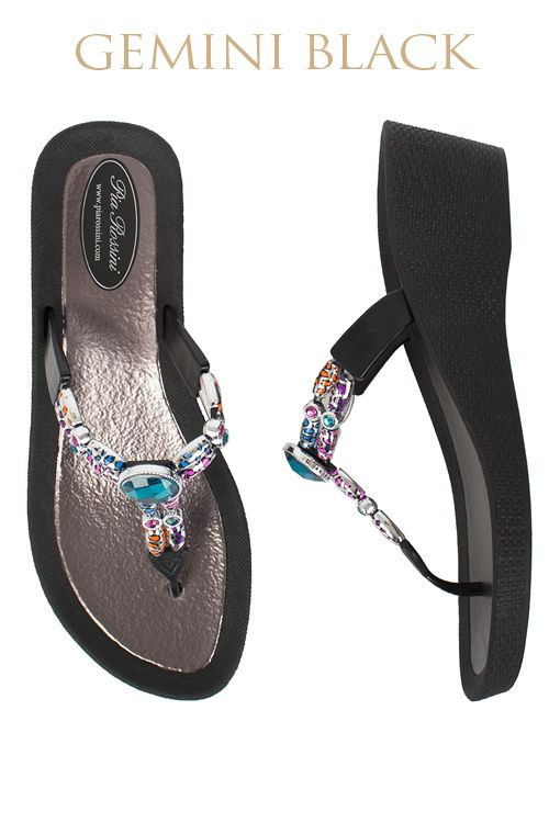 Gemini Ultimate Pool Shoe - Black Base  Available from www.piarossini.com #PiaRossini #UltimatePoolShoe #Pool #Shoes #Sandal #Beach #Cruise #Comfort #Resort