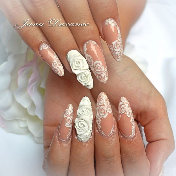 Salon nails-refill all made with pasta gels and natural beige gel JN #weddingnails #nails4today #nailing #nailpro #Jana #jananails #JanaDuzanec #salonnails #uvgel #gelpasta #gelpaint #handpainted