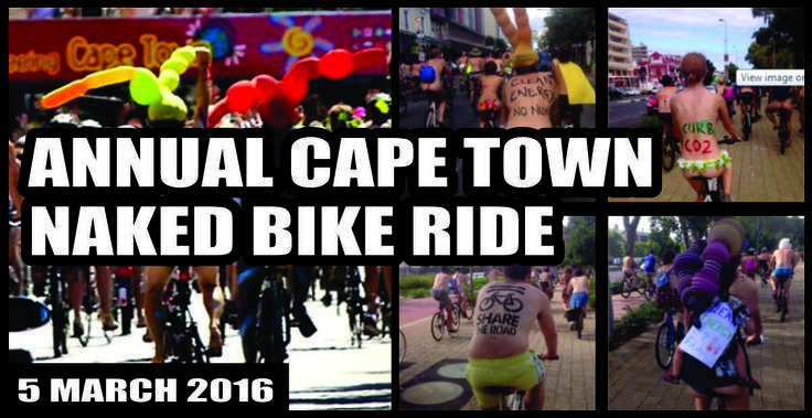 5 MARCH 2016: ANNUAL CAPE TOWN NAKED BIKE RIDE