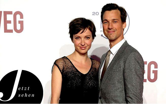 Julia Koschitz und Florian David Fitz auf der Premiere von Hin und weg