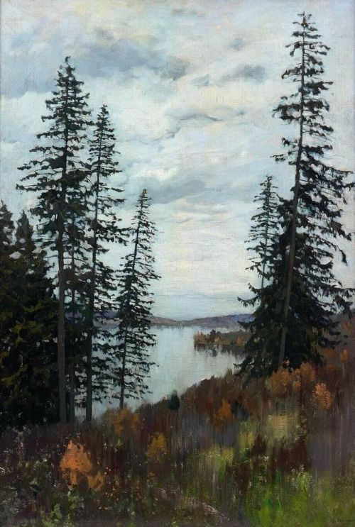 Isaac Ilyich Levitan - In the North, (1896). Oil on canvas, 106 x 77 cm. The State Tretyakov Gallery, Moscow, Russia.