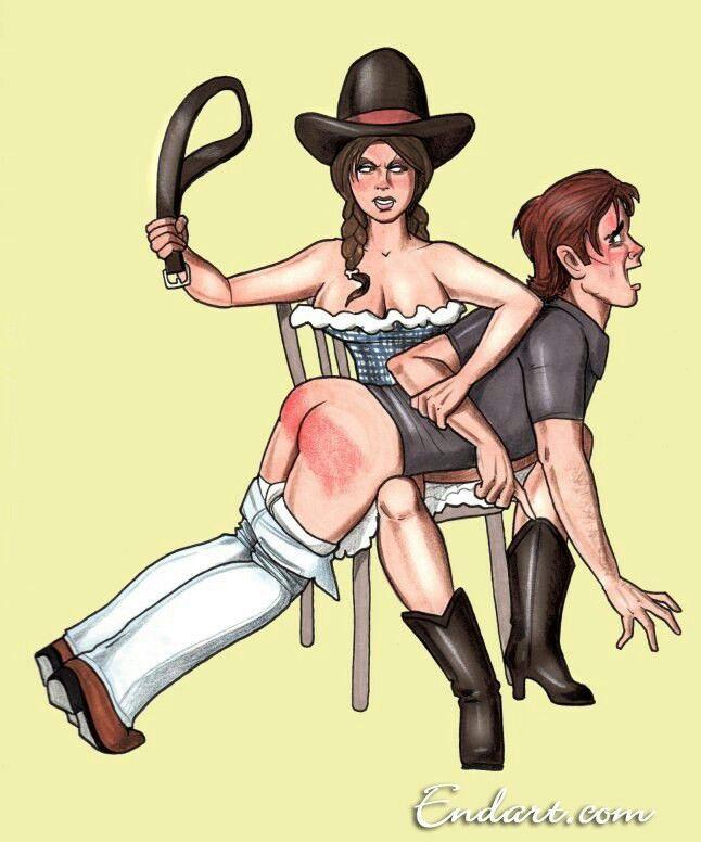 femdom-spanking-art-cartoon