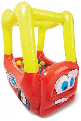 Inflatable Ball Pit - Fire Truck Big W sale - $12