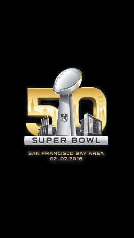 The Super Bowl 50 logo. This is the first (and only) time that the number is being used. Next year, they will go back to the Roman Numerals (LI - Super Bowl 51)<< 02.07.16