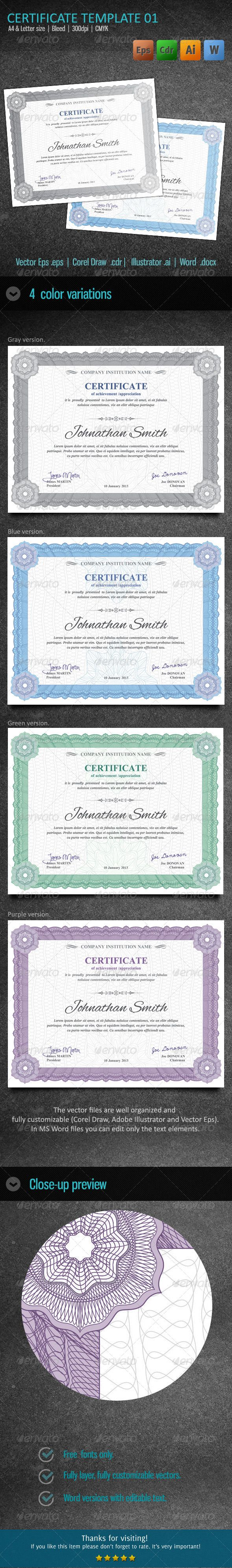 140 best certificate templates designs images on pinterest certificate 01 yelopaper Gallery