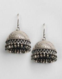 Silver Anusuya ES 2186 Jhumka Earrings