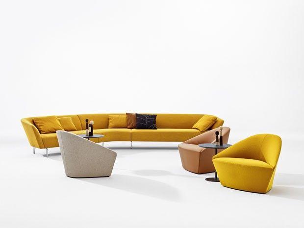 As Novas Poltronas Colina, Design Lievore Altherr Molina, Em Companhia Do  Sofá Modular Loop