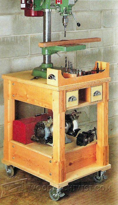 3217-Mobile Drill Press Stand Plans