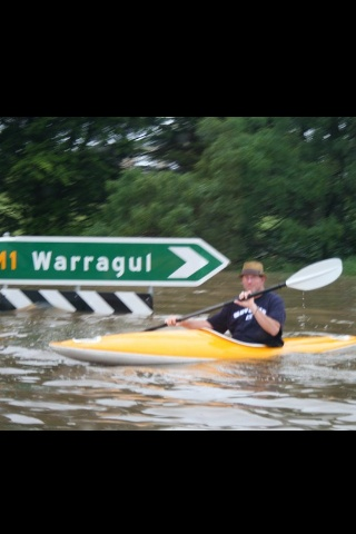 Canoeing to work. 2011