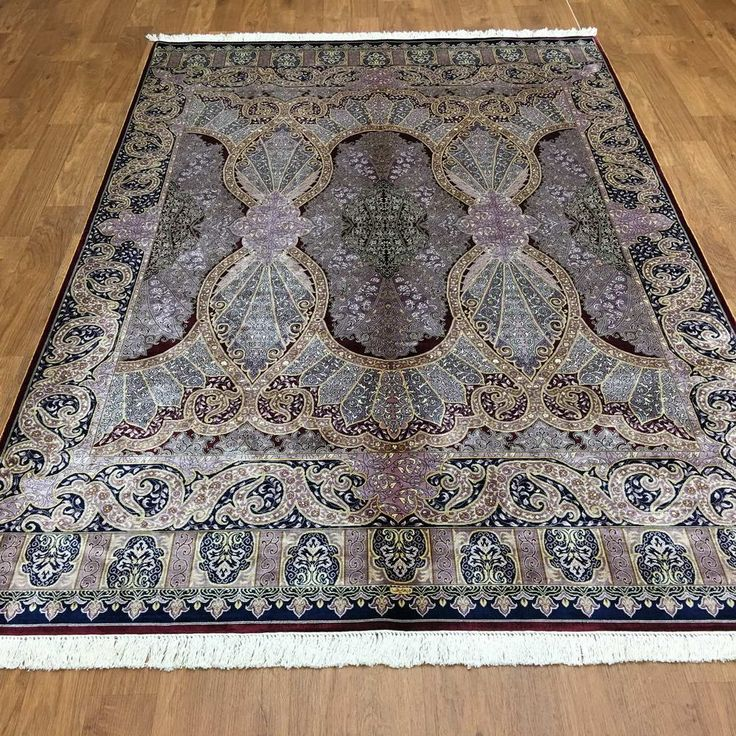 Amazon.com: Yuchen New 5.5'x8' HandKnotted Persian Silk Rug Living Room Colorful Purple Carpet: Kitchen & Dining