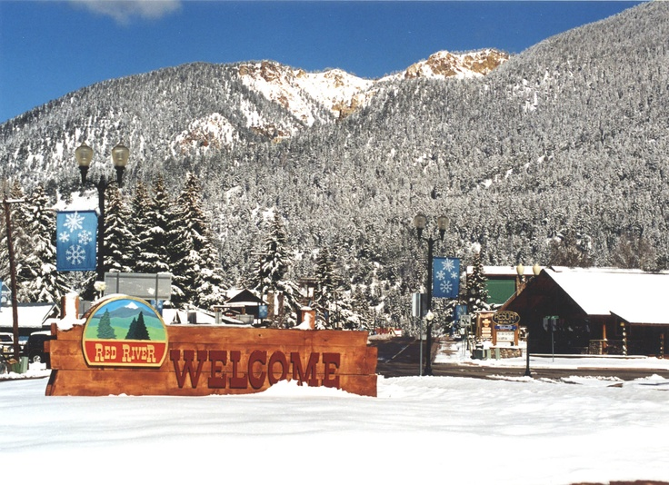 """Red River, NM.  Been here several times.  Beautiful little """"Christmas town""""."""