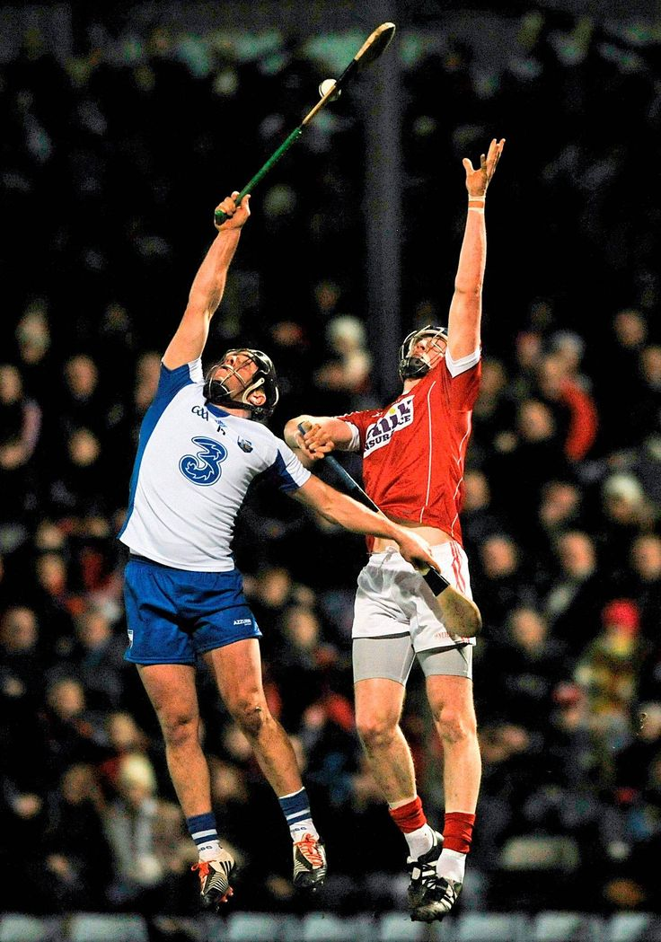 The ref missed this. Under a high ball, take the other lad's stick out with your hand and block the ball down to yourself. Ambitious. Waterford's Jake Dillon battles for control of the sliotar with Cork's Damien Cahalane Photo: Eóin Noonan / SPORTSFILE