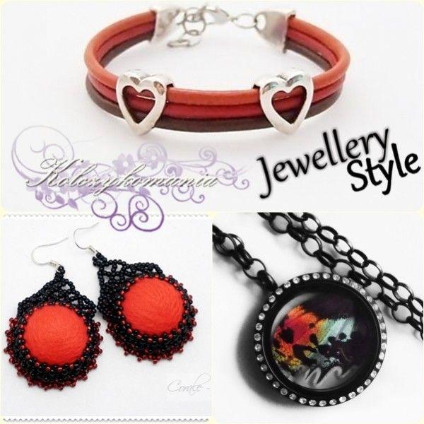 Jewellery Fashion | kolczykomania  Stylizacja biżuteryjna: Szlachetne barwy  Bransoletka : http://kolczykomania.com/produkt/two-hearts-skorzane-0 Kolczyki : http://kolczykomania.com/produkt/czarno-czerwone-flamenco Naszyjnik : http://kolczykomania.com/produkt/skrzydlo-motyla-czarny-sekretnik  Stylistka: Tiniaa Art