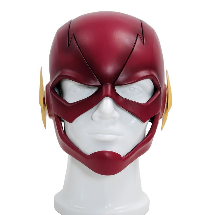 The Flash Mask Flash Cosplay Helmet PVC Red Full Head Mask For Adult Halloween Masks TV New Version