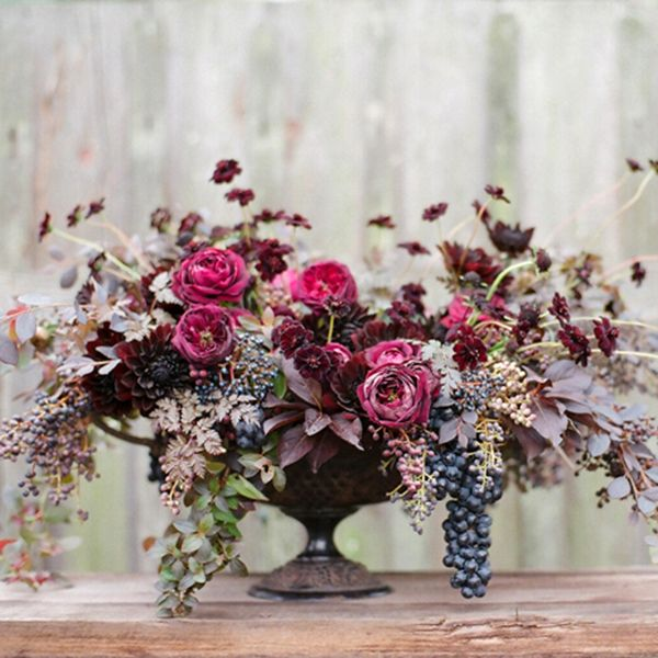 Beautiful floral arrangements with herbs and berries! Max Gill and Silvana di Franco: