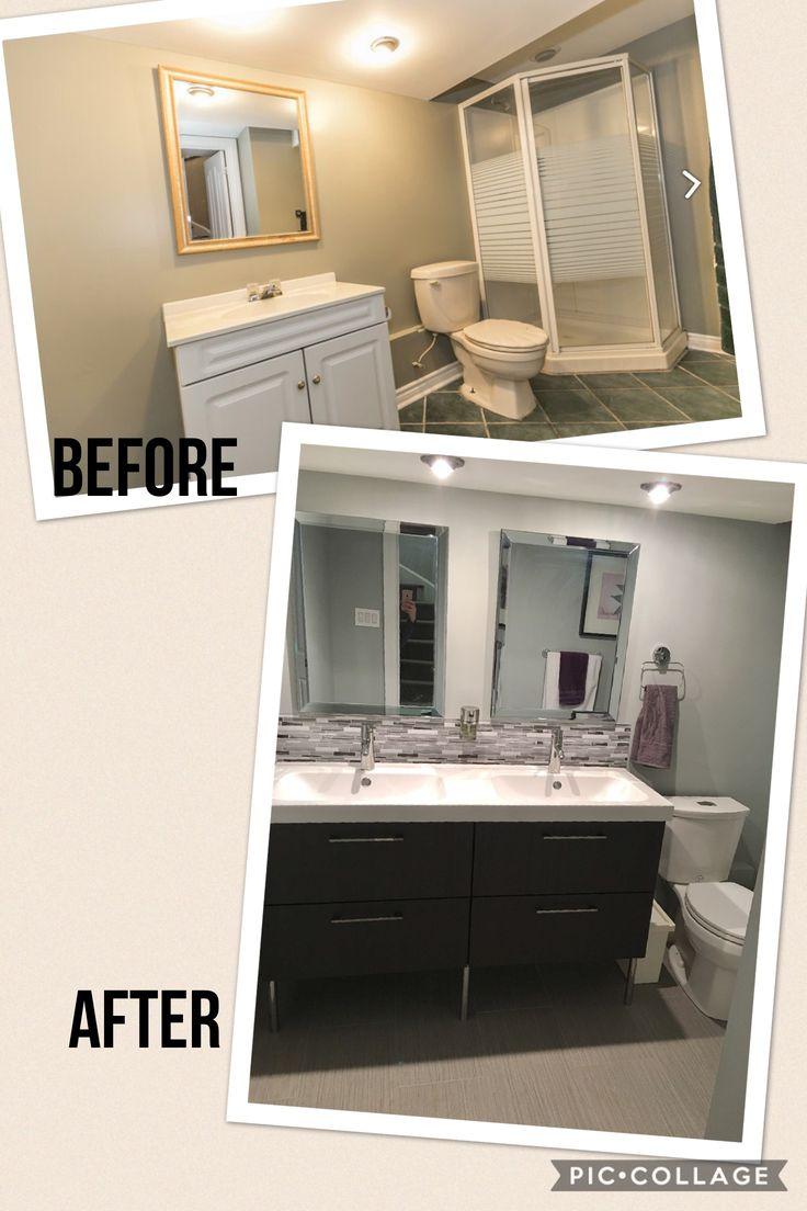Bathroom update! Vanity is Ikea's Godmorgon.