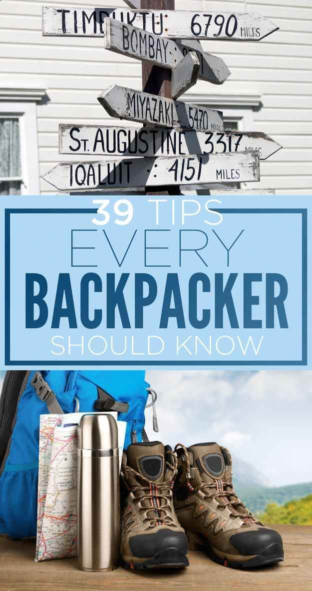 39 Tips Every Backpacker Should Know