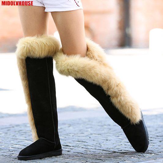 Купить товарMIDOLVHOUSE женская мода за колено Снега Сапоги Б высокое качество реального меховые сапоги зимой черный и коричневый mdv 170001 в категории Снег Сапогина AliExpress.