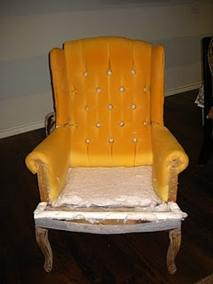 DIY Wing chair reupholstery directions - 3 part series, much more detailed than most tutorials I have seen