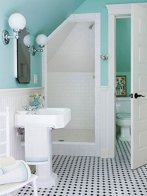 Would there be enough room to do this?  Separate toilet room. Small Bathroom Showers