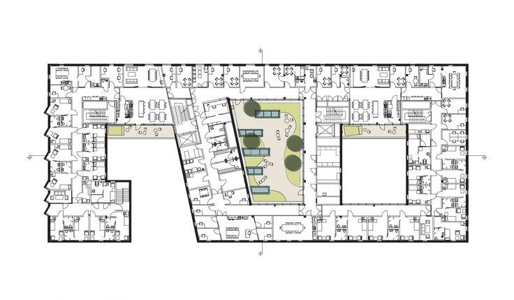 Architecture norway kronstad psychiatric centre bergen for Roof garden floor plan